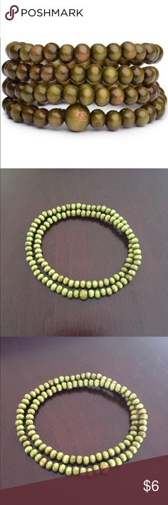 Green Mala Buddha Bracelet Brand New   All orders ship out same day  These Buddha bracelets are a great way to spice up your look and feel.   Perfect for men or women.  Color: Green Size: One size fits most Bead Size: 6mm Amount of Beads: 108  If you have any questions or want to bundle, please message me.   Thanks   #buddha #bracelet #buddhabracelet #yoga #yogi #meditate #prayerbeads #prayer #beads #chakra Jewelry Bracelets