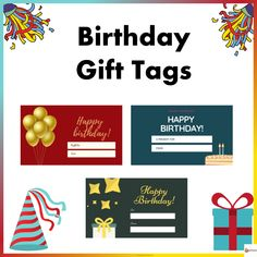 Spruce up your birthday gifts for your with students with our birthday gift tags Cute Birthday Gift, 10th Birthday, It's Your Birthday, Happy Birthday, Text You, Teacher Resources, Gift Tags, Birthdays, Students