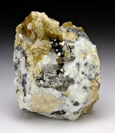 Bournonite with Siderite and Quartz from Germany