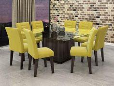 Conjunto de Mesa 8 Cadeiras Movale - Vegas com as melhores condições você encontra no Magazine Elleneliane. Confira!
