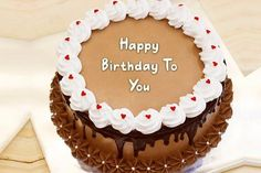 Write name on Amazing Chocolate Cake and wish birthday to your friends and family in a unique and awesome way. Best name birthday cakes. Green Birthday Cakes, Birthday Cake Gif, Happy Birthday Cake Photo, Unique Birthday Cakes, Beautiful Birthday Cake Images, Happy Birthday Cake Writing, Happy Anniversary Cakes, Cake Templates, Cake Name