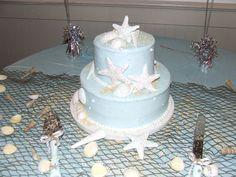 My lovely beach themed wedding cake.