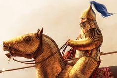 Persian Warrior, Greek Warrior, Tribal Warrior, Ancient Persian, Ancient Art, Ancient History, Medieval Knight, Medieval Fantasy, Epic Drawings