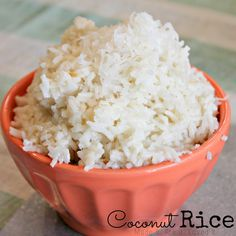 coconut rice, so easy and so yummy