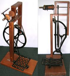 Unknown maker. Made from a treadle sewing machine cabinet