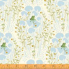 Half yard - 1/2 yard - Far Far Away  - Heather Ross- Frog Prince in Blue by LlamaFabrics on Etsy https://www.etsy.com/listing/198463182/half-yard-12-yard-far-far-away-heather