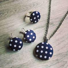 KÉK PÖTTYÖS SZETT Pendant Necklace, Drop Earrings, Instagram, Jewelry, Jewlery, Bijoux, Schmuck, Drop Earring, Jewerly