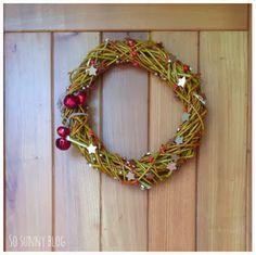 SO SUNNY: Corona de Navidad handmade. DIY Christmas wreath