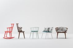 W. chair family, 100% in solid wood. www.billiani.it