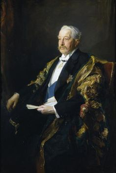 """""""His Grace Victor Christian William Cavendish Duke of Devonshire; Chancellor of the University of Leeds,"""" authorised copy of Philip Alexius de László] -- by Sydney Percy Kendrick (British, The Stanley & Audrey Burton Gallery, University of Leeds The Duchess Of Devonshire, Mitford Sisters, Chatsworth House, Art Uk, Crown Royal, Portraits, Guinness, Leeds, Historical Photos"""