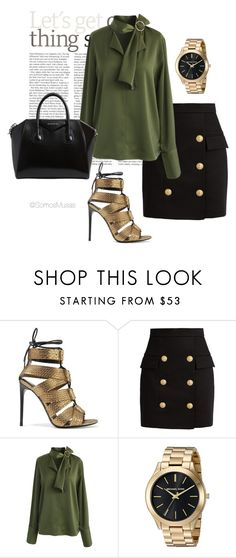 """""""General Boss"""" by cristaherrera on Polyvore featuring moda, Tom Ford, Balmain, Chicwish y Givenchy"""