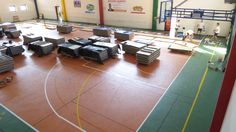 The old #floor has been carefully checked by DR staff before being sanded