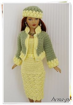 crochet fashion doll dress and coatBarbie Doll Crochet Clothes (Barbies Fashion) to BRL 25 in PriceLandia BrazilExquisitely crocheted outfit for Barbie.www lojaabril com br manequim moldes onlineMe as a Barbie . Barbie Clothes Patterns, Doll Dress Patterns, Clothing Patterns, Crochet Doll Dress, Crochet Barbie Clothes, Barbie Dress, Barbie Doll, Doll Clothes Barbie, Doll Dresses