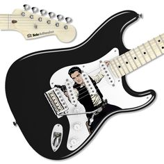 Decoración guitarra eléctrica con vinilo de Elvis - Han Solo #decoracion #guitarra #electrica #fender #stratocaster #vinilo #pegatina