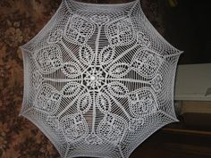 летний кружевной зонтик