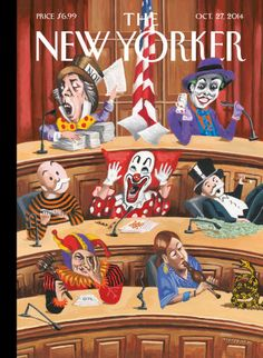 Fun and Games in Congress - The New Yorker Cover, October 2014 Poster Print by Mark Ulriksen at the Condé Nast Collection