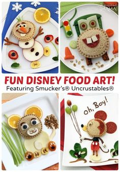 Kids in the Kitchen Fun - Creative Disney Food Art Featuring Smucker's Uncrustables at B-Inspired Mama #ad