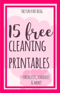 cleaning printables