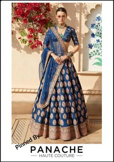 Sabyasachi just launched his first ever bridal lehenga from spring summer 2019 Collection. Love this shade of blue. Can't wait to see a bride in it now. It'll be interesting to see all the different bridal options for this year. Indian Lehenga, Sabyasachi Lehenga Bridal, Banarasi Lehenga, Blue Lehenga, Sabyasachi Sarees Price, Bollywood Saree, Bollywood Fashion, Indian Bridal Outfits, Indian Bridal Wear