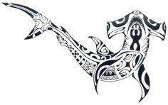 Shark Tattoo Designs | Tattoos Spot: Tribal hammerhead shark tattoo designs