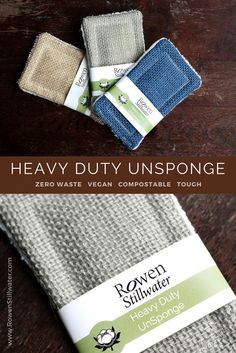 Heavy duty kitchen sponge made from 100% cotton and jute. #zerowaste #unsponge #plasticfree #ecocleaning