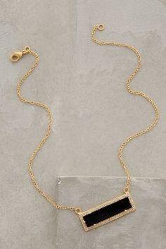 Anthropologie Onyx Bar Necklace on shopstyle.com