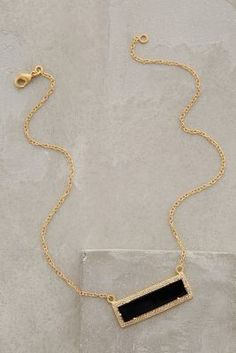 Anthropologie Onyx Bar Necklace #anthrofave