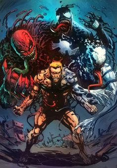 Eddie Brock as Venom, Carnage and Anti-Venom