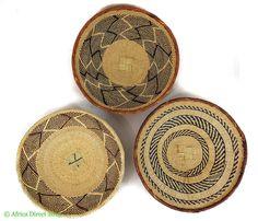 3 Tonga Binga Baskets Zimbabwe Africa