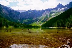 AVALANCHE LAKE-THE EMERALD LAKE THAT DREAMS ARE MADE OF-NEED GOOD HIKING SHOES AND GRIZZLY BEAR SPRAY! GLACIER NATIONAL PARK