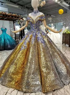 Gold Ball Gown Sequins Embroidery Appliques Off The Shoulder Wedding Dress Gold Ball Gown Sequins Embroidery Appliques Off The Shoulde Wedding Dress Ball Gown Dresses, Evening Dresses, Prom Dresses, Formal Dresses, Wedding Dresses, Club Dresses, Long Dresses, Elegant Dresses, Pretty Dresses