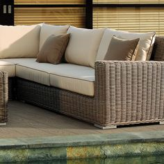 Wicker Sectional | Hampton Collection | Right | Thos. Baker