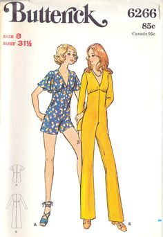 1970s Misses Jumpsuit.  Made one of these in Home Economics.