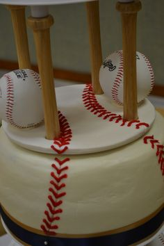 3 tier Baseball Wedding Cake