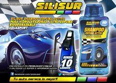 Este finde lava el auto con SILISUR SHAMPOO ESPUMA ACTIVA PARA HIDROLAVADORAS ALTO RENDIMIENTO 10 lavados Aquasport
