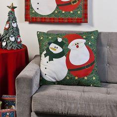 Almofada Boneco de Neve #patch #costura #Natal #receita #esquema #molde #PAP