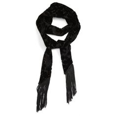 Women's Topshop Jacquard Velvet Tassel Scarf ($25) ❤ liked on Polyvore featuring accessories, scarves, black, velvet scarves, tassel scarves, topshop scarves and velvet shawl