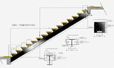 49 Ideas For Floating Stairs Detail Drawing Loft House Design, Bungalow House Design, Deck Stair Lights, Stair Lighting, Front Porch Railings, Stair Railing, Modern Staircase, Staircase Design, Stairs Architecture