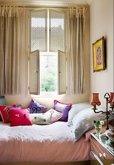 Chic patterned shutter screens.
