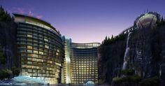 #HeyUnik  Unik, Hotel Bintang Lima Ini Dibangun di Jurang Bekas Tambang #Arsitektur #Desain #Travel #YangUnikEmangAsyik