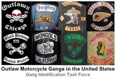 """This photographic history shot entirely in film is part of Jeff Deckers amazing collection of mc club vests from the past.   motorcycle """"gan..."""