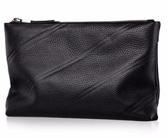 Embossed Stripe Clutch with Zipper