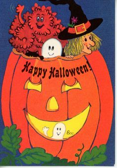 Vintage Halloween Greeting Card Black Cat Ghost Witch in Pumpkin 2176 FOR SALE • $4.00 • See Photos! Money Back Guarantee. 3 1/4 x 4 3/4 Great for the Collectors - Scrapbooking - art projects - mixed media art I ship in Cardboard envelopes with tracking. NO INTERNATIONAL SHIPPINGPAYPAL PLEASEWILL COMBINE 262976700159