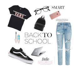 """""""Back to school"""" by eleanorsanmartin ❤ liked on Polyvore featuring Vans, GRLFRND, French Connection, Belkin and Maybelline"""
