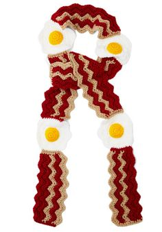 Brunch Bunch Scarf - Knit, Brown, Yellow, White, Kawaii, Quirky, Better, Winter, Top Rated