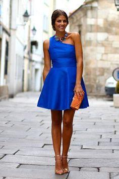 Royal Blue Homecoming Dress,One Shoulder Prom Dress,Short Prom Dress,5752