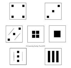 Platos cuadrados y rectangulares Piense líneas rectas, cuadrados, rectángulos y las esquinas!
