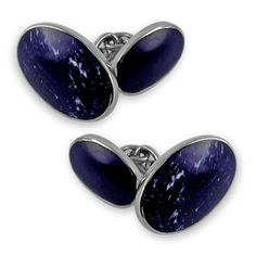 Sterling silver Lapis cufflinks by StartJewellery on Etsy