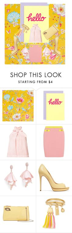 """""""Hello"""" by dudettelucy ❤ liked on Polyvore featuring PiP Studio, Berylune, Ulla Johnson, Boutique Moschino, Oscar de la Renta Pink Label, Casadei, Rochas, Chloé, Spring and prettyinpink"""