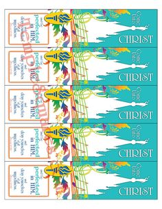 Printable Digital File LDS Bookmarks 2014 YW Young Women Values Colors and 2014 Theme by TempleSquares